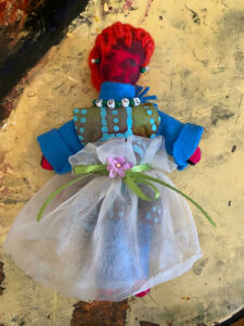 Artist made worry doll.